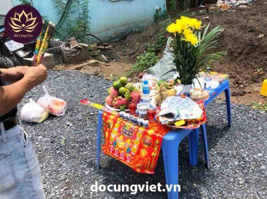 Đồ cúng khởi công chuẩn theo truyền thống văn hóa Việt