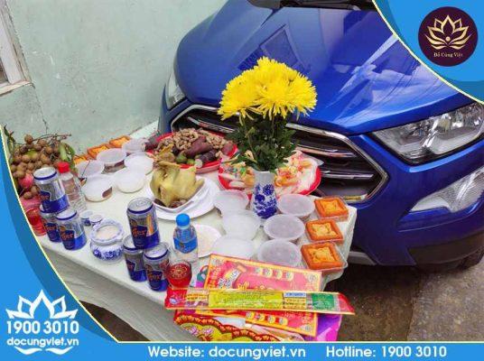 Mâm cúng chuẩn cho xe mới mua do Đồ Cúng Việt cung cấp trọn gói