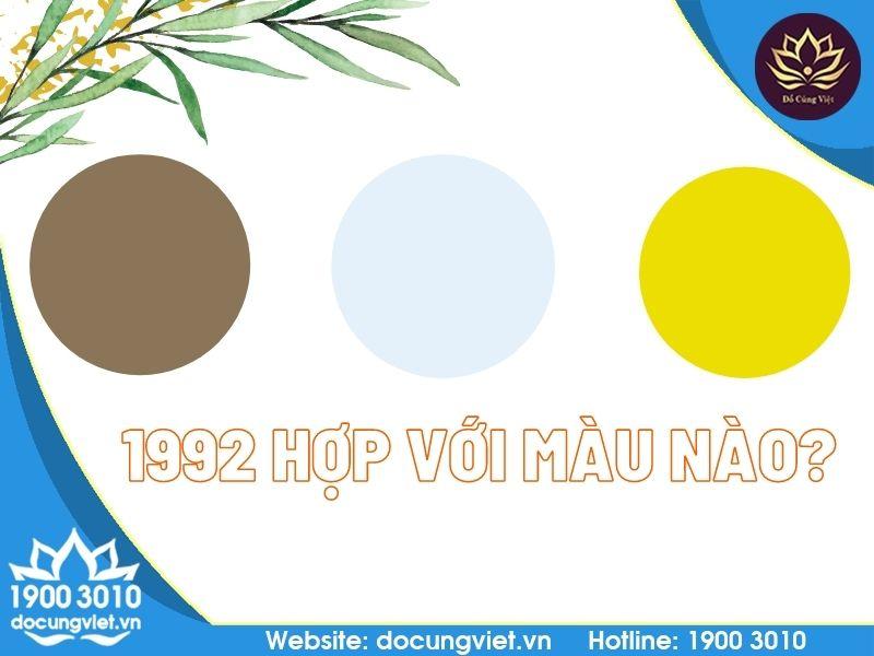 1992 Hợp với màu nào?